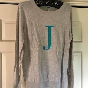 "Long sleeve ""J"" sweater"